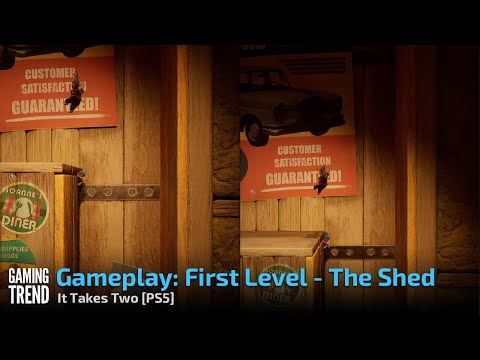 Gameplay: First Level - The Shed - It Takes Two [PS5] - [Gaming Trend]