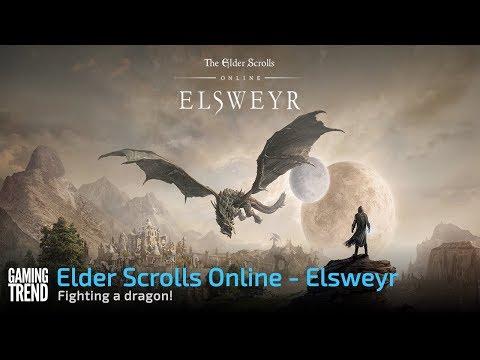 Elder Scrolls Online: Elsweyr - Fighting a dragon! [Gaming Trend]