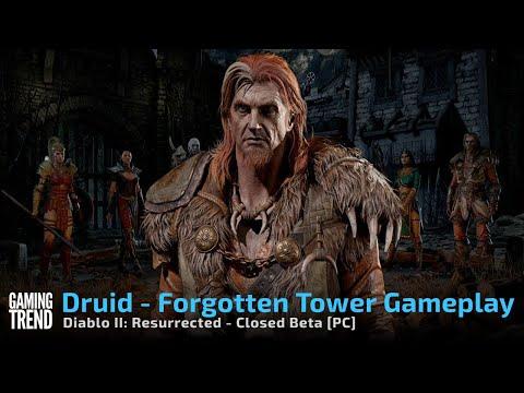 Diablo II Resurrected Forgotten Tower Druid Gameplay - Closed Beta on PC [Gaming Trend]