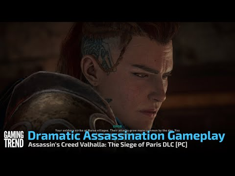 Assassin's Creed Valhalla: The Siege of Paris DLC Dramatic Assassination Gameplay -PC [Gaming Trend]