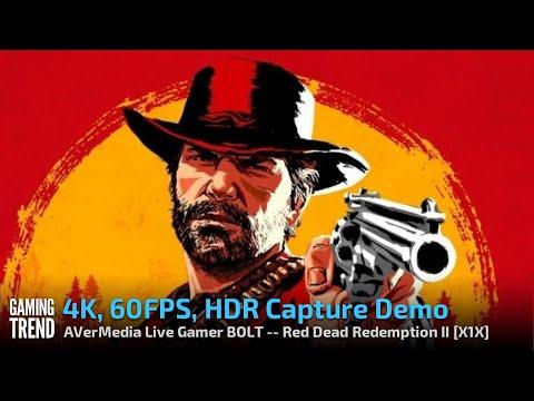 AVerMedia Live Gamer BOLT - 4K 60 HDR Capture Demo - Red Dead Redemption II - X1X [Gaming Trend]