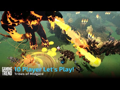 Tribes of Midgard with 10 Players Let's Play with the Devs on PC [Gaming Trend]