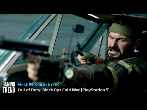 Call of Duty Black Ops Cold War - First Mission in 4K on PlayStation 5 [Gaming Trend]