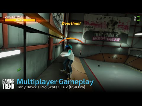 Tony Hawk's Pro Skater 1 + 2 Multiplayer Gameplay - PS4 Pro [Gaming Trend]