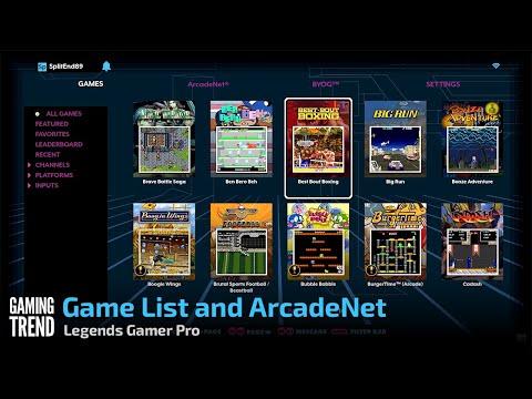 Game List and ArcadeNet - Legends Gamer Pro [Gaming Trend]