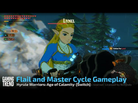 Hyrule Warriors: Age of Calamity Flail and Master Cycle Gameplay - Switch [Gaming Trend]