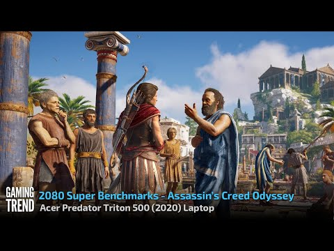 Acer Triton 500 Laptop - With and Without Turbo Benchmark - Assassin's Creed Odyssey [Gaming Trend]