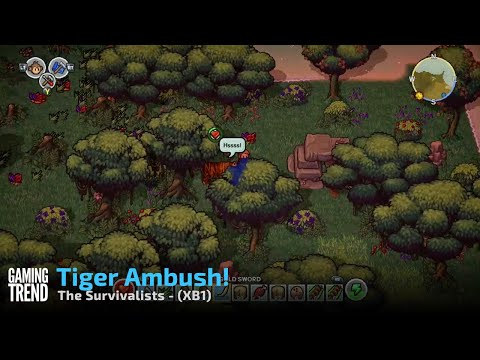 The Survivalists - Collecting Wood and Tiger Ambush Gameplay - XB1 [Gaming Trend]