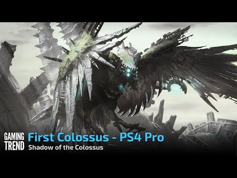 Shadow of the Colossus on PS4 Pro - Fighting the First Colossus