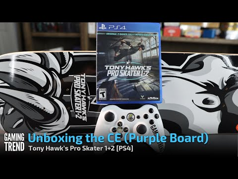 Tony Hawk's Pro Skater 1 + 2 Collector's Edition Unboxing - Purple Board - PS4 [Gaming Trend]