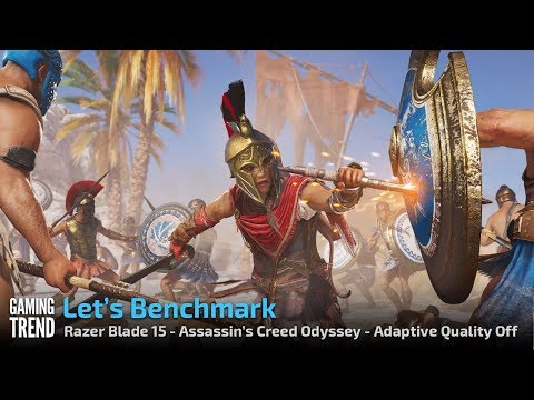 Razer Blade 15 - Assassin's Creed Odyssey - Adaptive Quality Off [Gaming Trend]