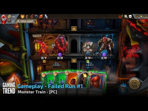 Monster Train - Gameplay Failed Run #1 - PC [Gaming Trend]
