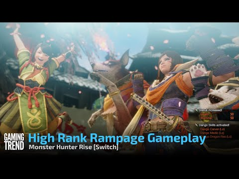 Monster Hunter Rise Rampage Gameplay - Switch [Gaming Trend]