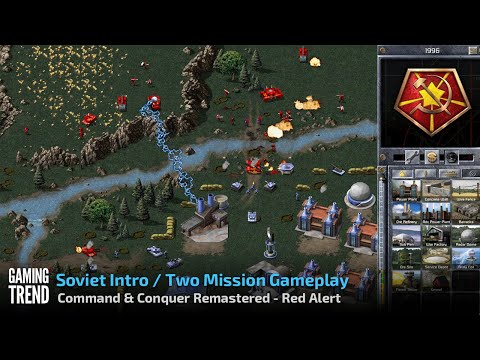 Command & Conquer Remastered - Red Alert - Soviet Intro and Missions in 4K [Gaming Trend]