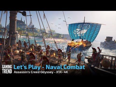 Assassin's Creed Odyssey - Naval Warfare - X1X 4K [Gaming Trend]