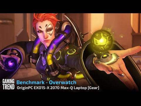 OriginPC EON15-X 2070 Max-Q AMD Laptop - Benchmark - Overwatch [Gaming Trend]