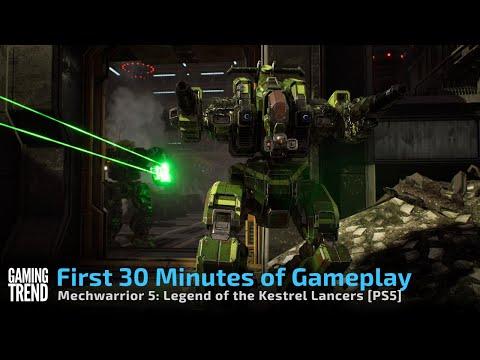 Mechwarrior 5 Mercenaries in 4K on PlayStation 5 - First 40 Minutes [Gaming Trend]