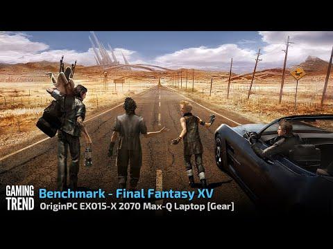 OriginPC EON15 X 2070 Max Q AMD Laptop Benchmark Final Fantasy XV Gaming Trend