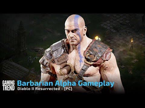 Diablo II Resurrected Technical Alpha Barbarian Gameplay - PC [Gaming Trend]