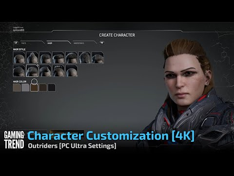 Character Customization [4K] - Outriders [PC Ultra Settings] - [Gaming Trend]