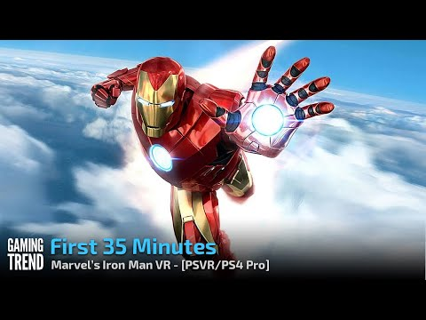 Marvel's Iron Man VR - First 35 Minutes - PS4 Pro / PSVR [Gaming Trend]