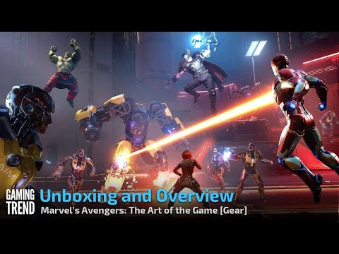 Unboxing Marvel's Avengers: The Art of the Game book from Titan Books [Gaming Trend]