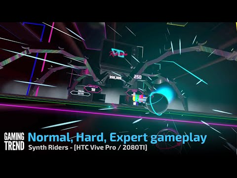 Synth Riders Normal, Hard, Expert Gameplay PC Gaming Trend