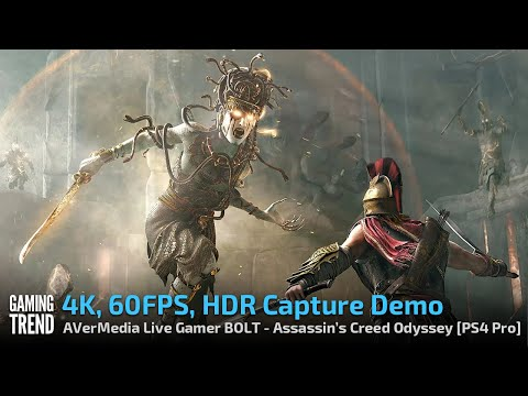 AVerMedia Live Gamer BOLT - 4K60 HDR Capture Demo - Assassin's Creed Odyssey - X1X [Gaming Trend]
