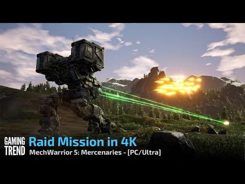 Mechwarrior 5 Mercenaries - Raid Mission in 4K Ultra - PC [Gaming Trend]