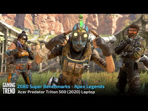Acer Triton 500 (2020) Laptop - With and Without Turbo Benchmark - Apex Legends [Gaming Trend]