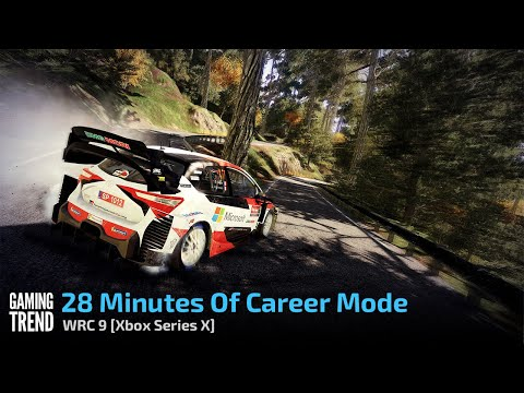 28 Minutes Of Career Mode - WRC 9 [Xbox Series X] - [Gaming Trend]