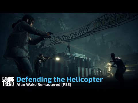 Alan Wake Remastered - Defending the Helicopter - [PS5] [Gaming Trend]