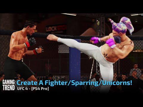UFC 4 - Character Creator, Training, Unicorns video - PS4 Pro [Gaming Trend]