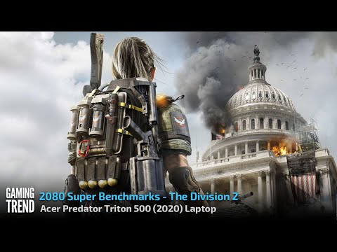 Acer Triton 500 Laptop (2020) With and Without Turbo Benchmark - The Division 2 [Gaming Trend]