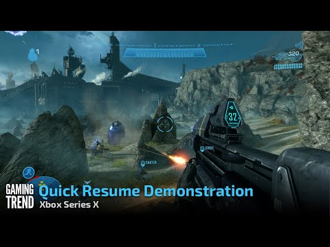 Xbox Series X - Quick Resume Demonstration [Gaming Trend]