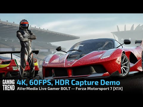 AVerMedia Live Gamer BOLT - 4K 60 HDR Capture Demo - Forza Motorsport 7 - X1X [Gaming Trend]