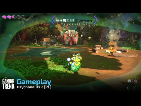 Psychonauts 2 Gameplay Part 2 - PC [Gaming Trend[