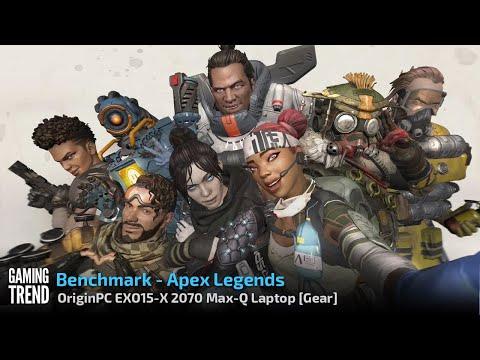 OriginPC EON15 X 2070 Max Q AMD Laptop Benchmark Apex Legends Gaming Trend