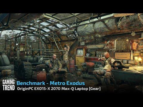 OriginPC EON15-X 2070 Max-Q AMD Laptop - Benchmark - Metro Exodus [Gaming Trend]