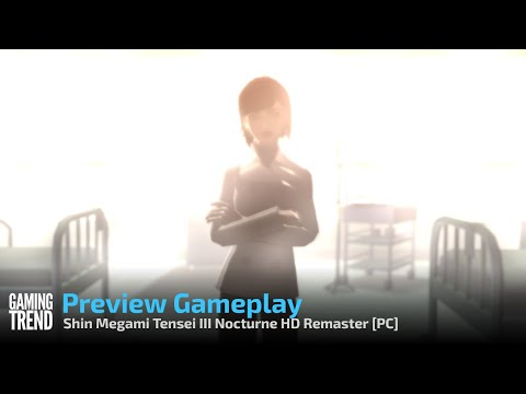 Shin Megami Tensei III Nocturne HD Remaster Preview Gameplay - PC [Gaming Trend]