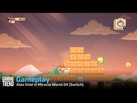 Alex Kidd in Miracle World DX Gameplay - Switch [Gaming Trend]