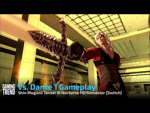 Shin Megami Tensei III Nocturne HD Remaster Vs Dante Gameplay - Switch [Gaming Trend]