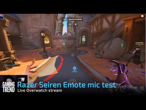 Razer Seiren Emote mic test + Overwatch [Gaming Trend]
