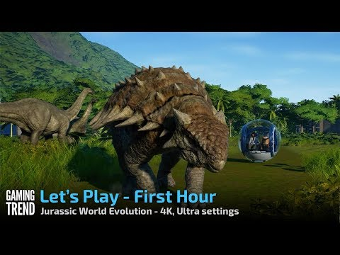 Jurassic World Evolution - Let's Play a park gone very wrong - 4K Ultra on PC [Gaming Trend]