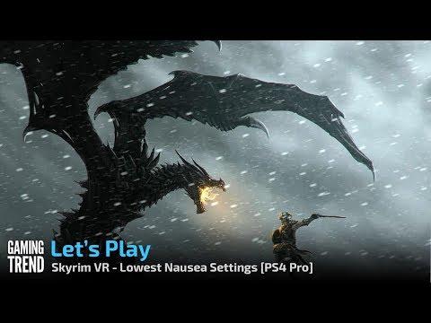 Skryim VR - Lowest Nausea Settings - PSVR PS4 Pro - Bleak Falls Barrow [Gaming Trend]