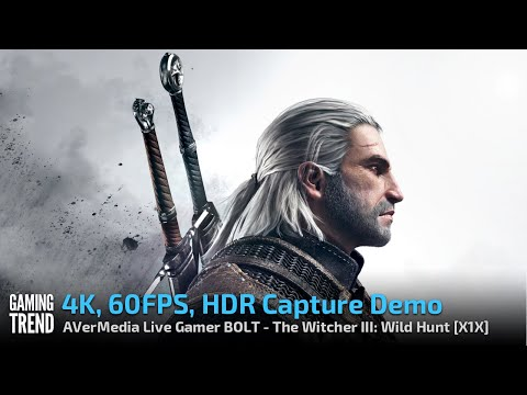 AVerMedia Live Gamer BOLT - 4K60 HDR Capture Demo - The Witcher III: Wild Hunt - X1X [Gaming Trend]