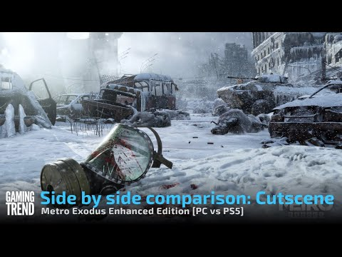 Side by side comparison: Cutscene - Metro Exodus Enhanced Edition [PC vs PS5] - [Gaming Trend]