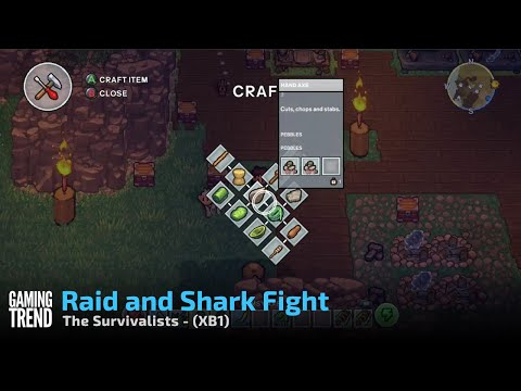 The Survivalists - Shark Fight and Orc Raid Gameplay - XB1 [Gaming Trend]