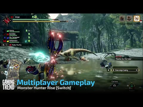 Monster Hunter Rise Multiplayer Gameplay - Switch [Gaming Trend]
