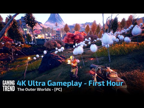 The Outer Worlds - 4K Ultra First Hour - PC [Gaming Trend]